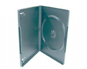 100 Standard Single Black DVD Case